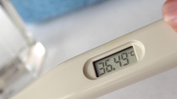 ママが見やすい大きな画面の体温計