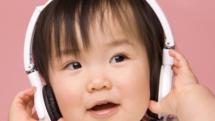 ノリの良い音楽にご機嫌の赤ちゃん