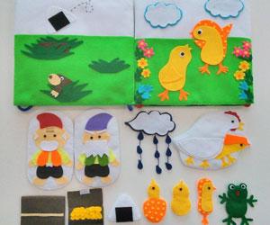 手作りの布絵本の画像