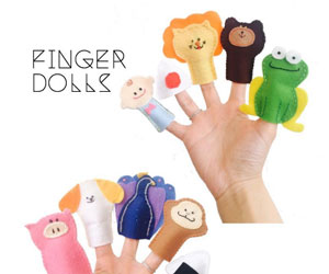 手作りの指人形の画像