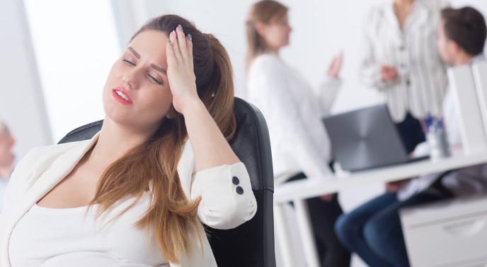 ストレスがある妊婦