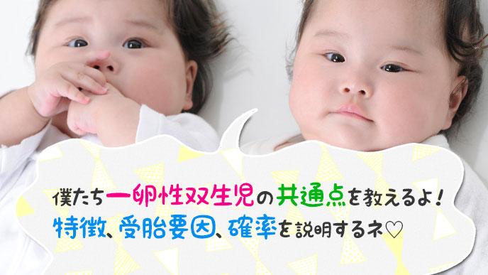 一卵性双生児の共通点は?特徴・受胎要因・確率