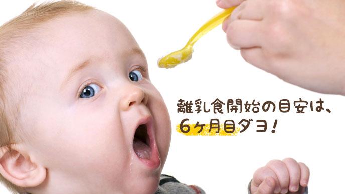 生後6ヶ月頃からは離乳食もスタート!