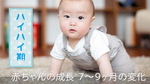 赤ちゃんの成長を月齢で見比べ!7~9ヶ月の変化と発育Q&A