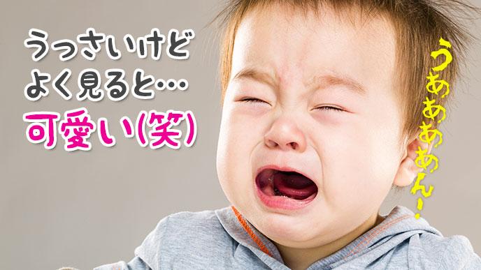 赤ちゃんの泣き顔もよく見ると様々