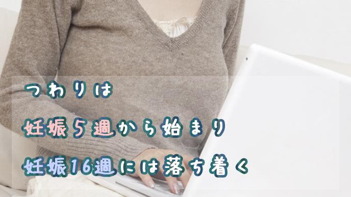 つわりの始まる時期を検索する妊婦