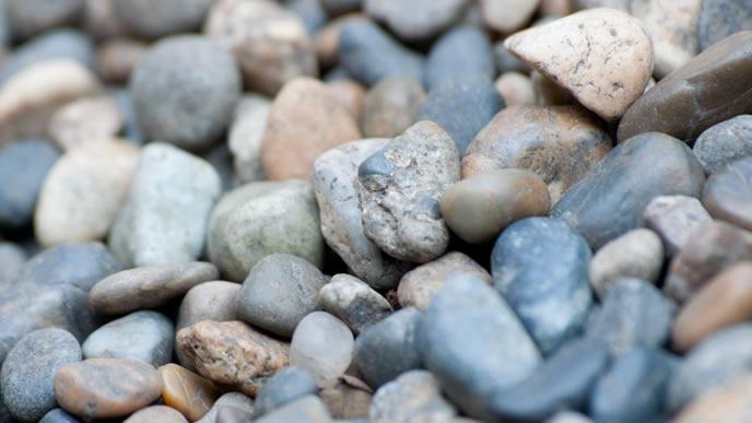 神社の境内にある石