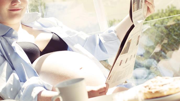 リラックスできる環境が整っている妊婦