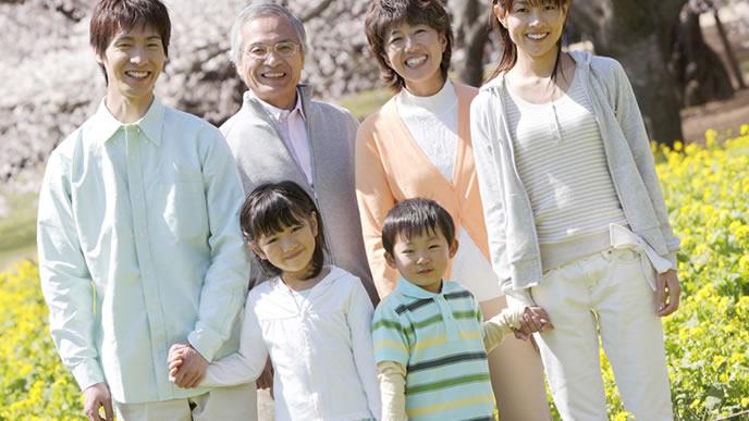 家族3代の記念写真