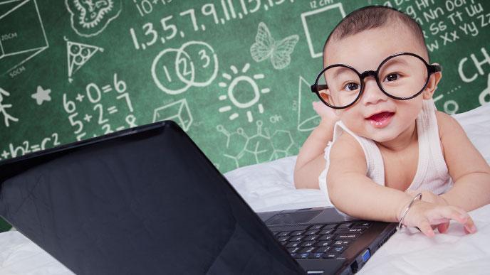 英才教育の赤ちゃんイメージ