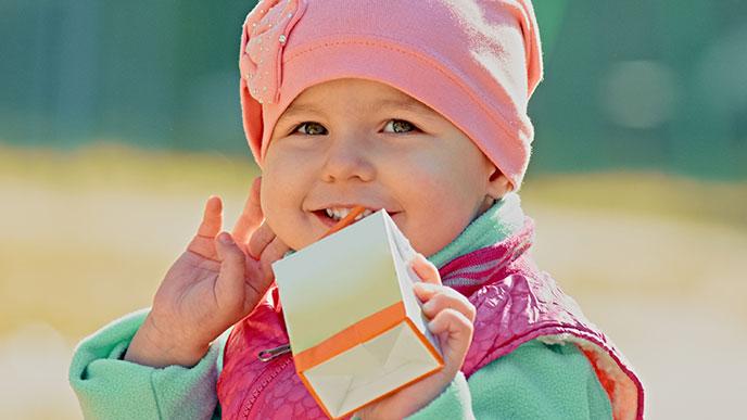 赤ちゃん用紙パックスタイル