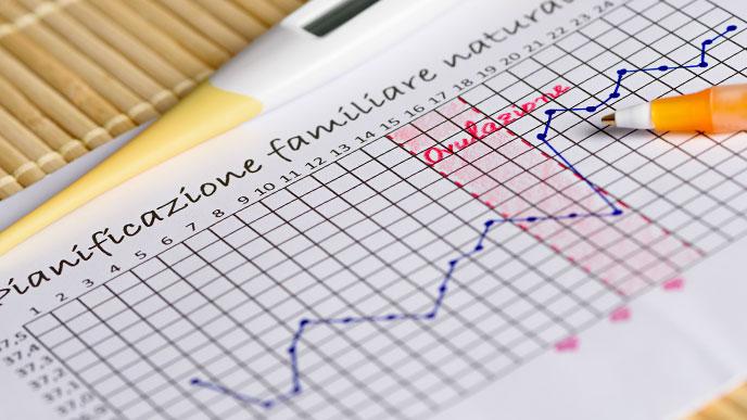 基礎体温のグラフ