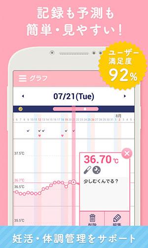 ルナルナのアプリ