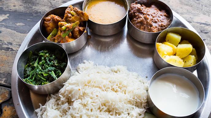 インドのカレー料理