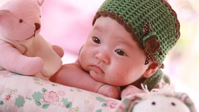 人見知りとは無縁のどっしりした性格の赤ちゃん