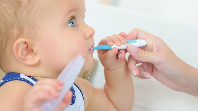 体温調節機能が未熟な赤ちゃんにはこまめな検温を