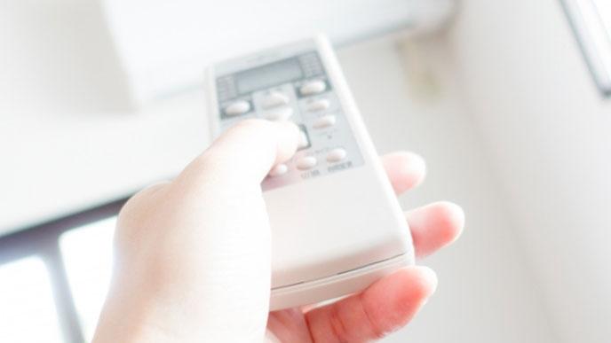 エアコンで室温を調整する
