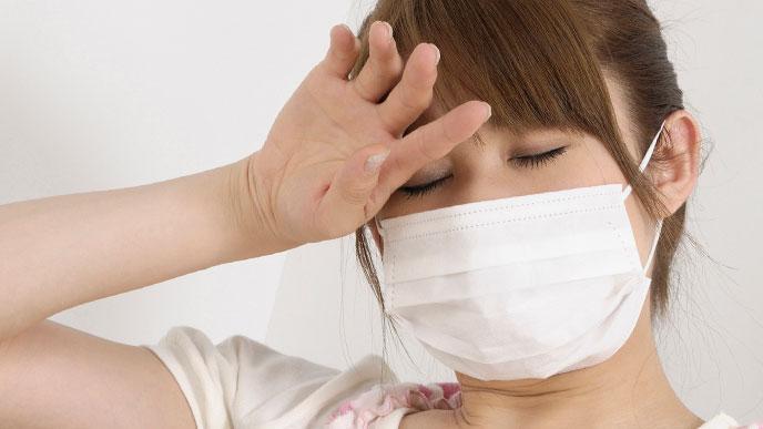 風邪のような症状が出る女性