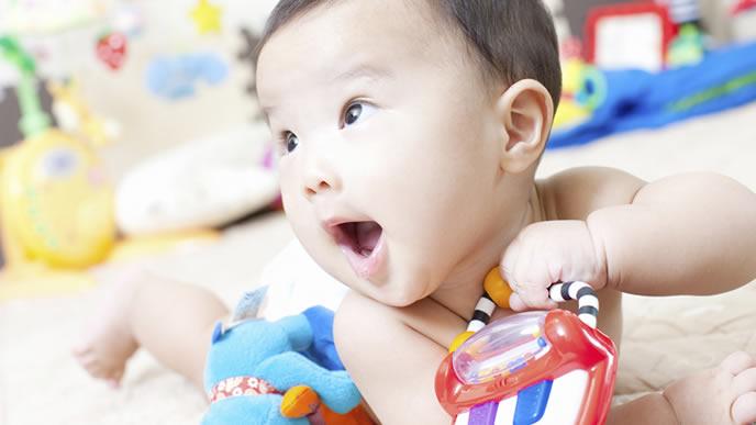 RSウイルス感染症の治療が終わった赤ちゃん