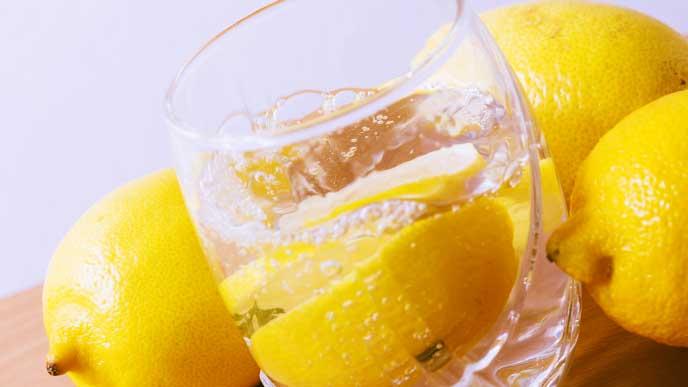 炭酸水のレモン割