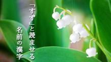 「すず」という名前の印象~漢字とひらがなどっちが良い?