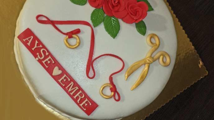 名前の入ったケーキ