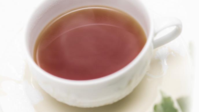 温かくした麦茶