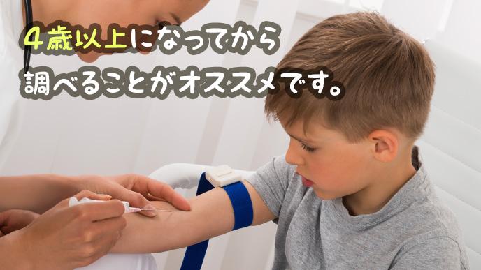 血液型は4歳以上になってから調べることがオススメ