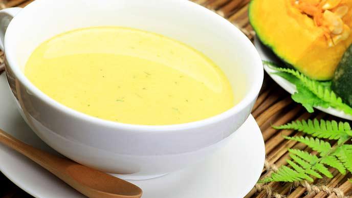 冷たいかぼちゃスープ