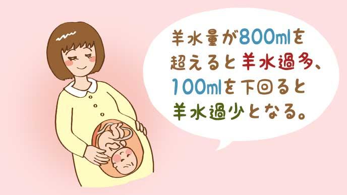 妊婦と胎児のイラスト
