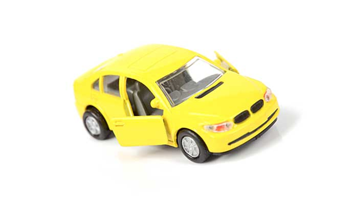 黄色いミニカー