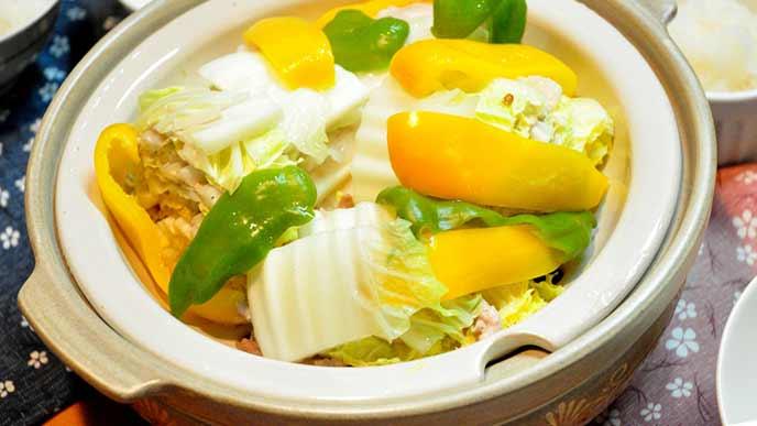 豚肉と白菜の蒸し物