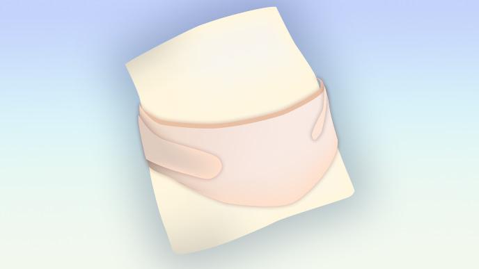 腹巻きタイプの腹帯