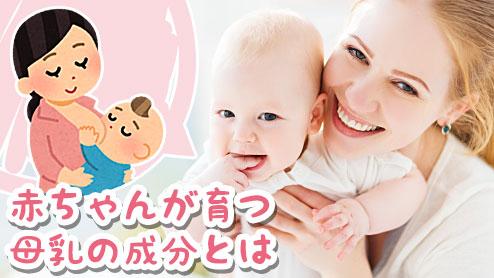 母乳の成分とは?赤ちゃんが母乳だけで大きくなれる理由