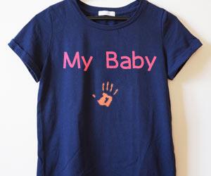 Tシャツに手形