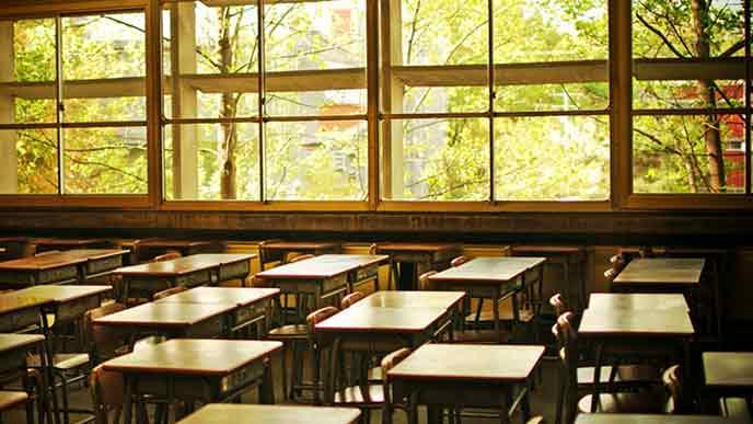 生徒の居ない教室