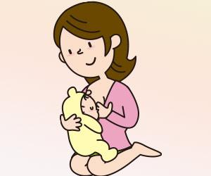 縦抱きで授乳