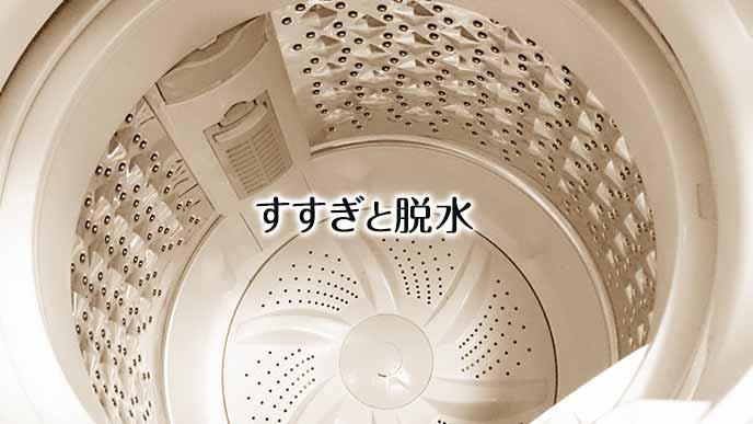洗濯機ですすぐ