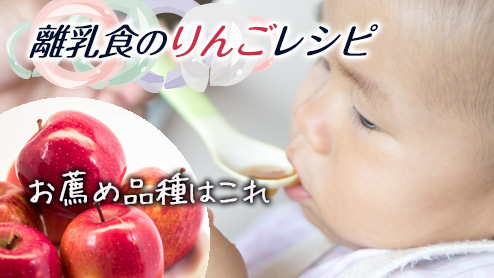 離乳食のりんごレシピ|赤ちゃんにおすすめの品種は?