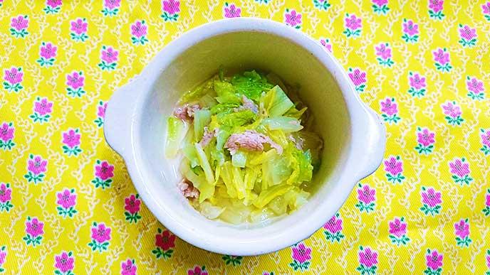 白菜と豚肉のフライパン蒸し