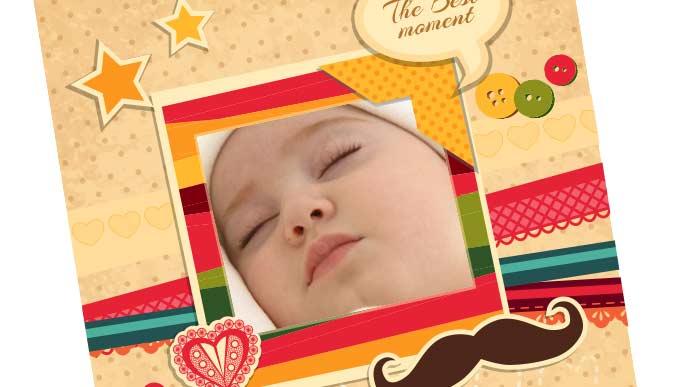 子供寝顔をフレームの中に収める
