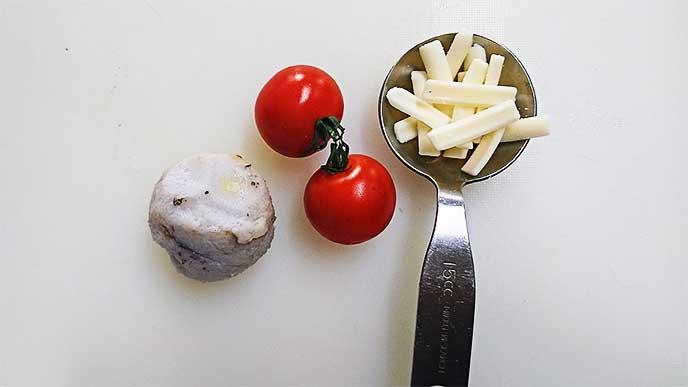 里芋とミニトマトとチーズ