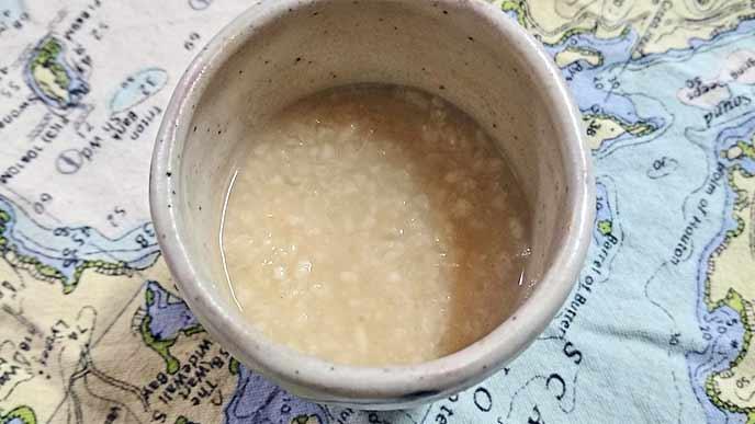 米麹甘酒の完成品