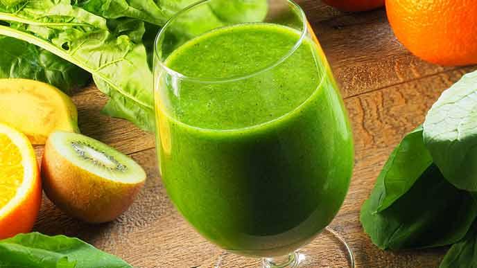 青汁と果物と葉物野菜