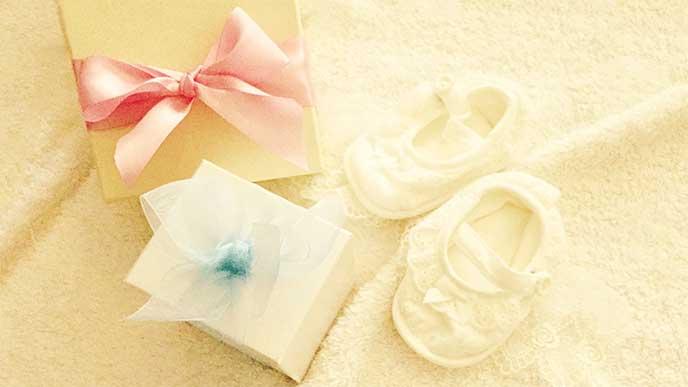 孫への靴下のプレゼント