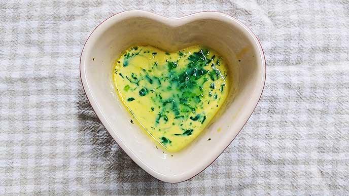 小松菜入り卵黄茶碗蒸し