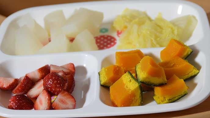 野菜と果物の副菜