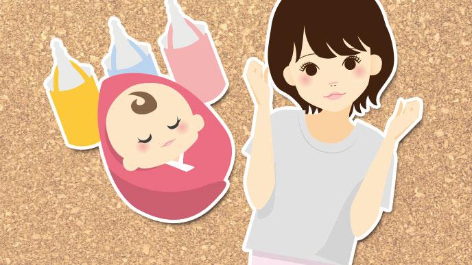 イラスト:ママと赤ちゃん