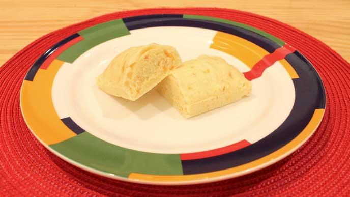 人参とチーズの蒸しパン完成品