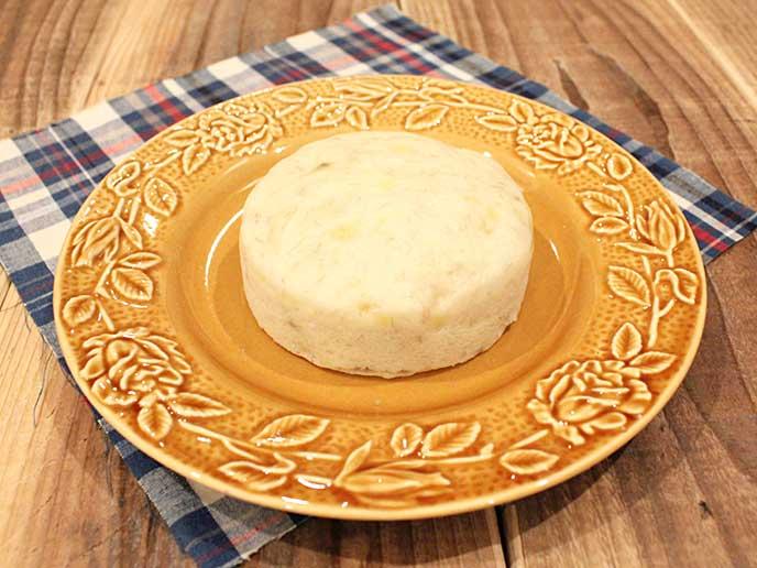 豆腐とバナナのもちもち米粉蒸しパン完成品